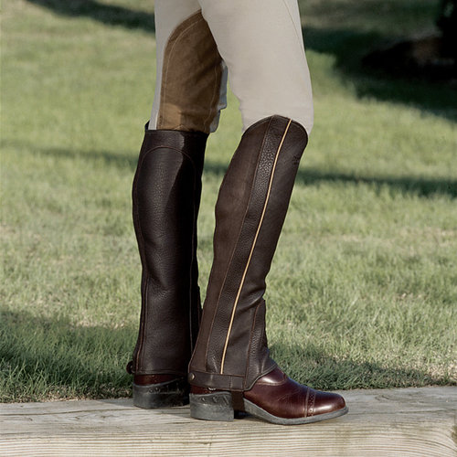 Riding Sport Leather Contrast Half Chaps