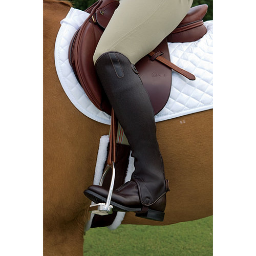 Grand Prix Stretch Leather Half Chaps