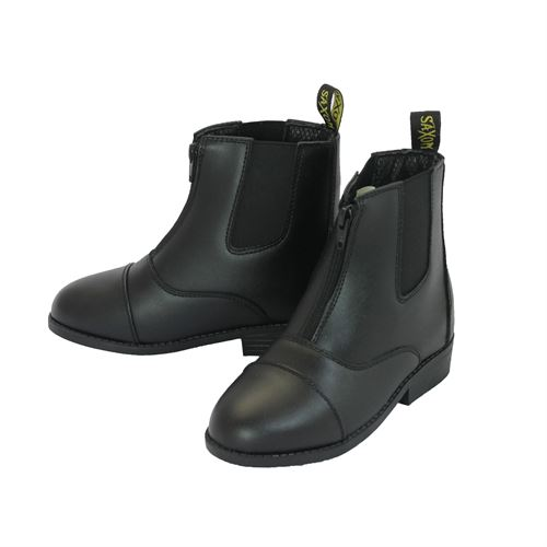 Childrens Saxon Equi-Leather Zip Paddock Boot
