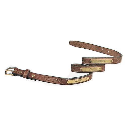 Dovers Nameplate Leather Belt