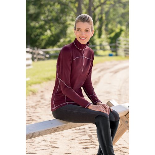 RS PERFORMANCE FLEECE ZIP NECK