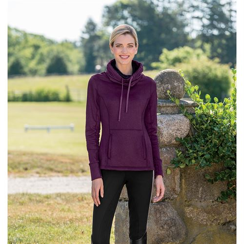 RIDING SPORT COWL NECK SWEATER