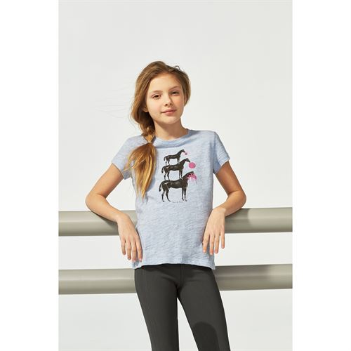 ARIAT GIRLS BUBBLE HORSE TEE