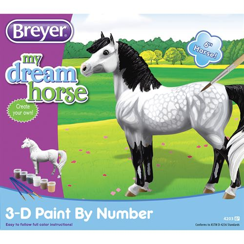 BREYER 3-D PAINT BY NUMBER KIT