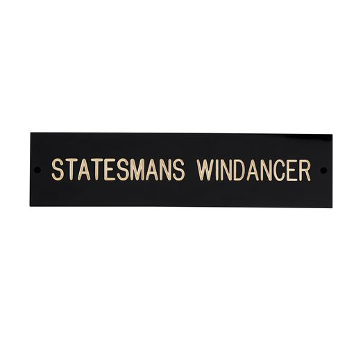 BLACK AND BRASS STALL PLATE