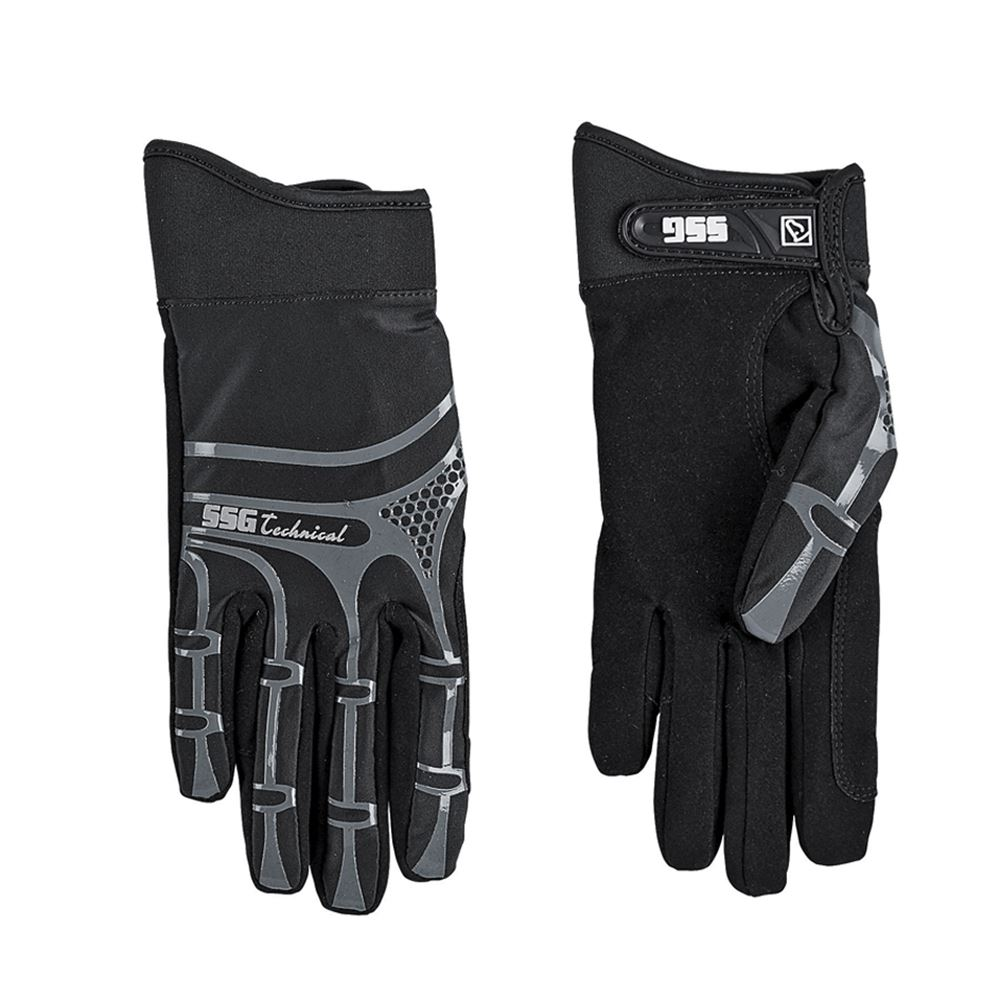 Childrens black leather gloves - Ssg Technical Riding Gloves